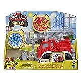 Play-Doh Wheels Kleine Feuerwehr, Spielset mit 2 Dosen, Wasser- und Feuerfarben, Feuerwehrauto für Kinder ab 3 Jahren
