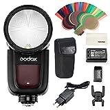 Godox V1-O Runder Kopf Kamera Blitz für Olympus/Panasonic Kameras mit Lithium Batterie