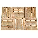 Lechnical Terrassendielen 6 STK. 50×50 cm Holz-Brett Dielen witterungsbeständig Boden-Fliesen Holz Braun