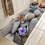 OPLJ Moderne Fußmatte Fußmatten Innenflur Teppiche Saugfähiger Bodenteppich Küchenteppiche Schlafzimmer Nachttisch Waschbar A4 50x160