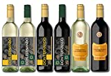 Spanien Weinreise Probierpaket Halbtrocken (4 x 0.75 l + 2 x 1 l) Rotwein und Weißwein aus Spanien Weinprobe 6 Flaschen