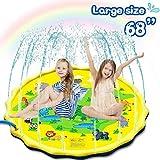 Splash Pad Sprinkler-Spiel-Matte 172CM, Wassersprenkler for Kinder Kleinkinder Sommer Outdoor-Wassermatte Spielzeug, Splash Planschbecken for Garten / Outdoor Party / Aktivitäten in der Familie / Stra
