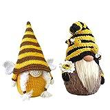 Subfamily Bienenfest Gesichtslose Puppen Bienenzwerge Elfenpuppe, Bienenform Puppen Ornamente Plüschtier Deko, Wichtel Handgemachte Wichtel Figuren Gesichtslose Dwarf Fensterbänken Desktop Dek