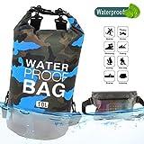 Idefair Wasserdichter Packsack, Schwimmender Trockenrucksack Strandtasche Leichter Trockensack für den Strand, Bootfahren, Angeln, Kajakfahren, Schwimmen, Rafting, Camping 10L 20L 41L