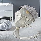 Ingenuity, zusammenklappbare und tragbare Babyschaukel mit 5 Schaukelgeschwindigkeiten, 5-Punkt Sicherheitsgurt und hochwertigem Plüsch