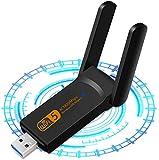 WLAN Adapter - WLAN Stick 1900 Mbps Dual Band 2.4GHz/5GHz USB WiFi Dongle, USB 3.0 Wireless Netzwerk Karte Mini Größe Adapter für PC/Desktop/Laptop mit Windows 10/8/8.1/7