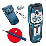 Bosch Professional digitales Ortungsgerät GMS 120 (Bohrlochmarker, max. Detektionstiefe Holz/Eisenmetalle/Nichteisenmetalle/spannungsführende Leitungen: 38/120/80/50 mm) - Amazon Exclusive