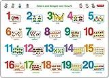 Fragenbär-Mini-Lernposter: Zahlen und Mengen von 1 bis 20 (in der Schulbuch-Druckschrift) S 45 x 32 cm: stabiler Karton, folienbeschichtet, ... abwischbar (Lerne mehr mit Fragenbär)