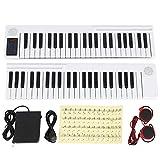 Musikalische Tastatur, leicht zu tragen und zu pflegen, 88 Tasten Klavier, Geschenke für Heimschulkinder(white)