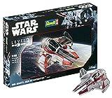 Revell Modellbausatz Star Wars Obi Wan's Jedi Starfighter im Maßstab 1:58, Level 3, originalgetreue Nachbildung mit vielen Details, einfaches Kleben und Bemalen, 03607