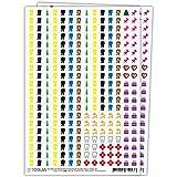 Sticker Aufkleber Set für Kalender - 560 Kalendersticker aufkleben | Mülltonnen, Geburtstag, Urlaub, Arzt, Date & Wichtige Termine hervorheben | Optimal für Müllkalender, Familienkalender, Planer