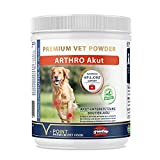 V-POINT ARTHRO Akut für Hunde bei Gelenkschmerzen akut schmerzhaften Beschwerden Premium Kräuterpulver mit Teufelskralle Ingwer Hagebutte Weidenrinde Gelenkpulver (250 g)