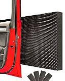 STRACKS 4x Garagen Wandschutz je 43 x 15 x 1,5cm Extra dicker Türschutz – Für Ihr Auto und die Garagenwand – Selbstklebender Türkantenschutz – 4er Set Karo