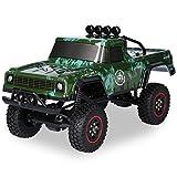 Keifen AX-8801 RC Car 1/18 Maßstab 4WD 2.4G Fernbedienung Crawler Offroad Truck 20 km / h Geländefahrzeug mit LED- Spielspielzeug für Kinder Jungen Erwachsene