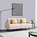 2 sitzer Sofa Schlafsofa Zweisitzer Klein | Modernes Stoffsofa | 2-Sitzer Couch Schlafsessel Bettsofa Sessel Sitz Kleines Sitzen | Beige 180 cm