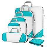 Compression Packing Cube 6-teilig, Gonex robust & langlebig | Verpackungswürfel, Packtaschen, Kleidertasche, Koffer-Organizer, Aufbewahrungstasche  - B