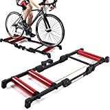 WLGQ Bicycle Turbo Trainer, Verstellbarer Indoor Cycling Bike Trainer Stand mit Geräuschreduzierungsrad Indoor Tragbare Fahrradrollen für 24-29 Zoll 700C Renn- und Mountainbikes