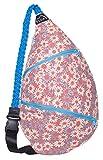 Schulter-Rucksack für Damen, Crossbody-Seiltasche, einzelner Riemen, Crossover-Wickeltasche, Flower Power (Pink) - LYSB01K7XO5O6-OFFSUPPLIES
