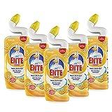 WC Ente Total Aktiv Gel Flüssiger WC Reiniger, mit Entenhals-Technologie, antibakteriell, Citrus Splash, 5er Pack (5 x 750 ml)