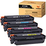 Voredo Kompatible Tonerkartusche für HP 410A CF410A CF411A CF412A CF413A zur Verwendung mit Color Laserjet Pro MFP M477fdw M477fdn M477fnw Pro M452dn M452nw M452dw Drucker (4er-Pack)