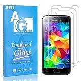 Displayschutzfolie Kompatibel mit Galaxy S5 Mini, SONWO HD Panzerglas Schutzfolie für Samsung Galaxy S5 Mini Gehärtetes Glas Schutzfolie, 3 Stück