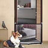 WYBZ Magisches Haustiergitter für das Haus, bietet ein sicheres Gehege zum Spielen und Ausruhen, Haustiergitter, Sicherheitsgitter für Treppen, 110 x 72 cm, 4 Haken