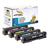 4 Schneider Printware Toner | 50% höhere Reichweite | kompatibel für HP 201X für HP Color LaserJet Pro 200 M252n, M252dw Pro MFP M277dw M277n M274n CF400X CF401X CF402X CF403X