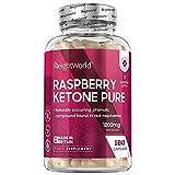 Raspberry Ketone Pure - 1200mg pures Himbeer Keton pro Tagesmenge - 180 Himbeer Kapseln - Natürliche & Geprüfte Zutaten - Vegan & Vegetarisch - Mit reinem Himbeerfruchtextrakt - Von WeightWorld