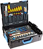 GEDORE L-BOXX 136-58 teilig/Großes Hand- bzw. Heimwerker Werkzeugset mit Check-Tool-Einlage/VDE Werkzeugset/Profi Werkzeuge für jede Gelegenheit