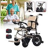 HXCD Elektrischer Rollstuhl, 5.2AhLithium-Batterie, Faltbarer Elektrorollstuhl, leichte Tragerollstühle für Erwachsene, leistungsstarker Leichter 190-W-Motor-Leichtrollstuhl, Einzelsteuerung