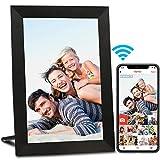 AEEZO WiFi Digitaler Bilderrahmen 9 Zoll IPS Touchscreen, Automatische Drehung, Einfache Einrichtung zur Gemeinsamen Nutzung von Fotos und Videos, Wandmontierbarer Digitaler Bilderrahmen (Schwarz)