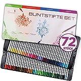 Nimare – Buntstifte Set – 72 bruchsichere Malstifte in leuchtenden Farben – Umfangreiches Buntstifte Set für Erwachsene mit extra hohem Pigmentgehalt