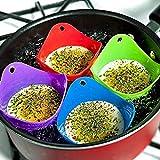 WPYLY 4 Stück Silikon Eierkocher Bohnenkocher Topfform Küche Kochwerkzeug Zubehör kleines Zubehör