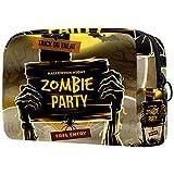 Kosmetiktasche Womens Makeup Bag Für Reisen zum Tragen von Kosmetika wechseln Sie die Schlüssel usw.,Halloween Zombie Party