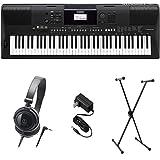 Yamaha PSR-EW410 PKS Premium Keyboard Pack mit Netzteil, Ständer und Kopfhörer