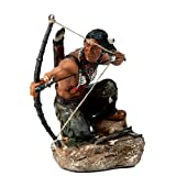 Agora Gifthouse Deko Indianerfigur Krieger mit Bogen Westernfigur Wild West Apache Indianer I54