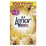 Lenor Colorwaschmittel Pulver, Waschpulver, Lenor Goldene Orchidee, 100 Waschladungen (6.5 kg)