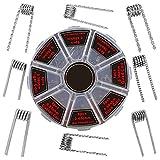 Xinlie Vorkompilierte Coil Kit Fertigcoil Coil Kit Drähte Zigarette fertig gewickelt Clapton,Hive,Mix Twisted,Fused Clapton,Alien,Tiger,Flat Twisted,Quad mit 0.3Ω/0.35Ω/0.45Ω/0.5Ω/0.8Ω(48 Stück)