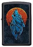 Zippo – Wolf Only, Black Matte – Benzin Sturm-Feuerzeug, nachfüllbar, in hochwertiger Ge-schenkbox, normal, 60005571