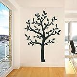 Kunst Wandaufkleber Großer Schwarzer Baum Abnehmbarer Wandtattoo Restaurant Salon Wanddekor Kunstplakat andere Farbe 42x60cm