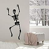 SUPWALS Skelett Vinyl Wandtattoo Lustige Skelett Fenster Aufkleber Tanzen Schädel Knochen Halloween Aufkleber Für Zuhause Schlafzimmer Dekor