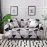WXQY Gitter Sofabezug elastische All-Inclusive-Sofabezug, verwendet für Wohnzimmermöbelbezug, Sofabezug, Sofatuch A22 3-Sitzer