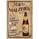 Tin Sign Blechschild 20x30 cm MALZBIER Bar Kneipe Disco Club Cafe Hausbar Wand Deko Geschenk