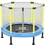 TAIDENG Rebounder Trampolin für Kinder mit Sicherheitsnetz, Outdoor- und Indoor-Übungen, Jumping, Fitness, Eltern-Kind, Unterhaltungsspielzeug, maximale Traglast 152,4 cm, Blau