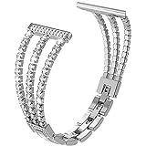 Diamant-Schmuckband für Huawei Watch GT 2 Pro Uhrenarmband für Honor GS Pro/ES 20 mm 22 mm Honor Uhrenarmband Ersatzband, Für GT 2 46 mm., Silber