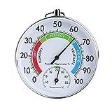 Buwei Temperatur und Luftfeuchtigkeit Analoganzeige Indoor Outdoor Thermometer Hygrometer