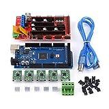 wosume 【𝐅𝐫𝐮𝐡𝐥𝐢𝐧𝐠 𝐕𝐞𝐫𝐤𝐚𝐮𝐟】 RAMPS 1.4, MEGA2560 R3, Wechselstrom-Gleichstrom-USB-Calbe-Jumper-Kit Grün für Projektarbeiten 3D-Druckerkit Motorsteuerungselektronik