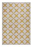 Esprit Home, Moderner Kurzflor Teppich - Läufer aus Baumwolle für Wohnzimmer, Flur, Schlafzimmer, Tender Love, Caledon (80 x 150 cm, Sand grau senfgelb)