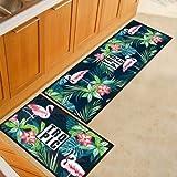 OPLJ Lustige Cartoon Küche Fußmatte Waschbare rutschfeste Lange Eingangstürmatte Korridor Badezimmer Fußmatten A3 40x60cm
