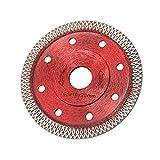 XJF Diamant-Sägeblatt-Schneidscheibe, 105 mm dünnes Porzellan-Schneidmesser, Trocken- / Nasswinkel-Schleifscheibe zum Schneiden von Porzellanfliesen, Granit-Marmor-Keramik-Stahlb